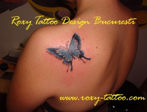 tatuaje fluture butterfly roxy tattoo bucuresti