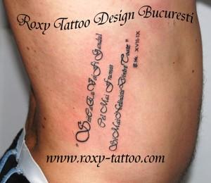 scrisuri modele tatuaje roxy tattoo bucuresti