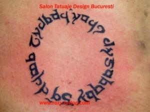 Scris Elfa Circular tatuaj Tatuaje tattoo