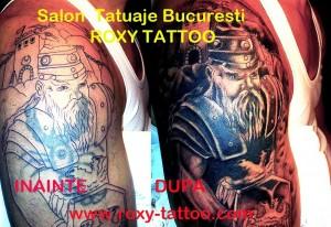 acoperire tatuaje vechi Bucuresti salon tatuaje Roxy
