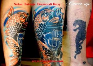 acoperire tatuaje vechi coverup saloane tatuaje bucuresti roxy tattoo