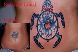 refacere tatuaj broasca maori Roxy Tattoo