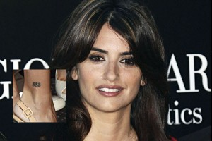 Penelope Cruz Tattoo