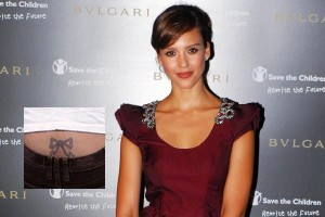 Jessica Alba Tattoo Bow