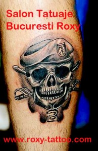 salon tatuaje bucuresti roxy tattoo model old school craniu