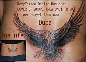 salon tatuaje bucuresti roxy tattoo vultur old school